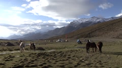 Nimaling camp in Himalaya. Arkistovideo