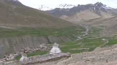 Potoksar himalayan village  8 Stock Footage