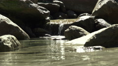 Waterfall krimml detail. Stock Footage