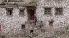 Potoksar himalayan village life. Stock Footage