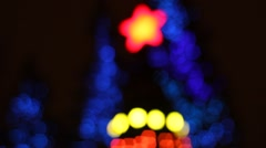 Abstract circular bokeh background of Christmas tree light Stock Footage