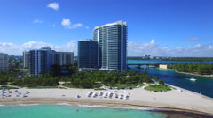 Bal Harbour Miami Beach aerial video Stock Footage