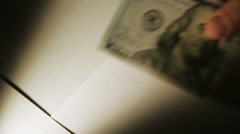 Falling money close-up Stock Footage