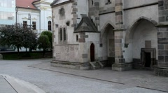 Chapel of St. Michael in Kosice Stock Footage