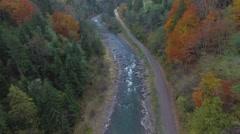 Video Aero mountain river top view - stock footage