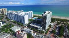 Miami Beach aerial 30th Street Stock Footage