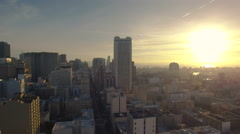 4K Aerial drone shot of San Francisco downtown up building sunrise Arkistovideo