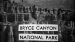 1937: Bryce canyon national park rock formations cliffs natural beauty. UTAH - stock footage