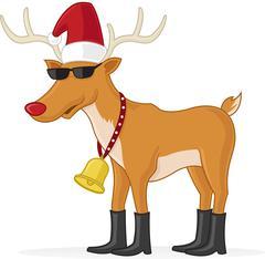 Cool reindeer Stock Illustration