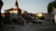 The area of the Five Wells in Zadar. Stock Footage