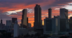 Atlanta Sunset view of Skyline in  Real Time. - stock footage