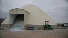 Road Salt Storage Building Stock Footage