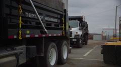 Department of Highways Salt Truck and Plow Stock Footage