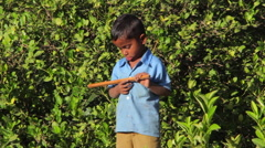 Indian rural children Stock Footage