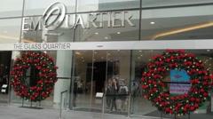 Christmas decoration at EMQuartier shopping mall,Bangkok,Thailand Stock Footage
