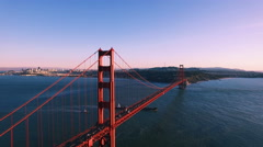 4K Aerial drone shot of San Francisco golden gate down sunset Arkistovideo