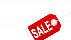 Big sale animation with red tags for shopping sales and promotions - stock footage