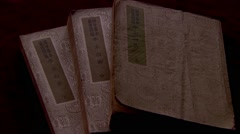 The ancient Chinese books,poetry of the Tang Dynasty 1 Stock Footage