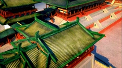 The ancient city of the tang dynasty,animation Stock Footage