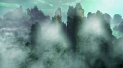 The magic mountain in China Stock Footage