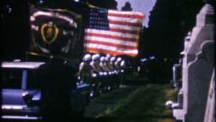 2989 - military funeral for war veteran - vintage film home movie Stock Footage