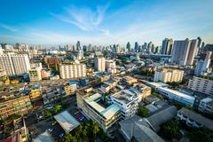 View of the Ratchathewi District, in Bangkok, Thailand. - stock photo