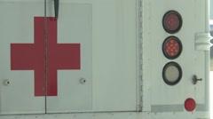 Elmendorf Alaska, November 2015, Red Cross Medical Bus - stock footage