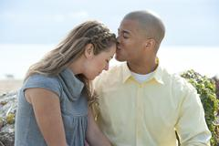 Stock Photo of Happy Young Interracial Couple