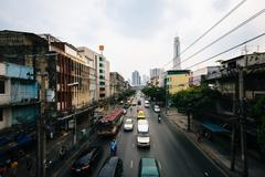 View of Ratchaprarop Road, in Bangkok, Thailand. - stock photo