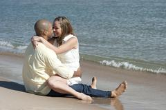 Romance On The Beach - stock photo