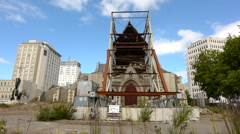 Stock Video Footage of ChristChurch Cathedral in Christchurch New Zealand