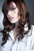 Gorgeous Young Female Headshot - stock photo