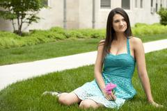 Young Brunette Girl Stock Photos