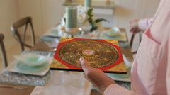 Feng shui compass Stock Footage