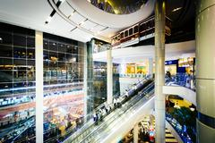 Interior of the Terminal 21 mall in Bangkok, Thailand. - stock photo