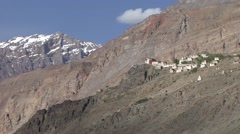 Stongdey Gompa in Padum Valley Stock Footage