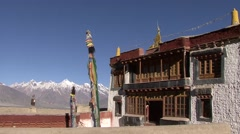 Stongdey Gompa in Padum Valley. Stock Footage