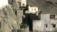 Buddhist monastery Stongdey Gompa in Padum Valley in Himalaya Stock Footage