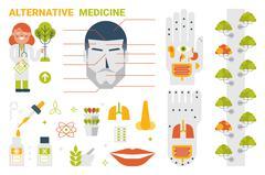 Alternative Medicine Concept - stock illustration
