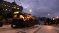 Stock Video Footage of Christchurch Tramway tram restaurant New Zealand