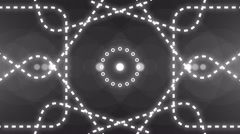 abstract light music clip backgorund 4K Colorless - stock footage