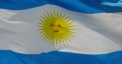 4k Spain flag is fluttering in wind. Stock Footage