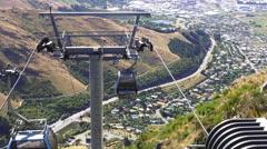 Stock Video Footage of Christchurch Gondola New Zealand