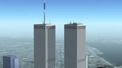 Helicopter Rotation Around CG World Trade Center  Stock Footage