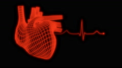 Beating Human Heart — Regular Mesh - stock footage