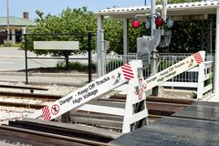 Danger Keep Off Tracks - stock photo