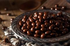 Chocolate Covered Espresso Coffee Beans Stock Photos