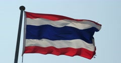 4k Thailand flag is fluttering in wind. Stock Footage