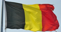 4k Belgian flag is fluttering in wind. Stock Footage