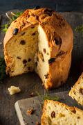 Homemade Christmas Even Panettone Bread - stock photo
